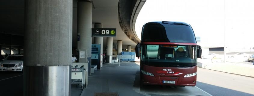 Busstation Flughafen Wien Schwechat